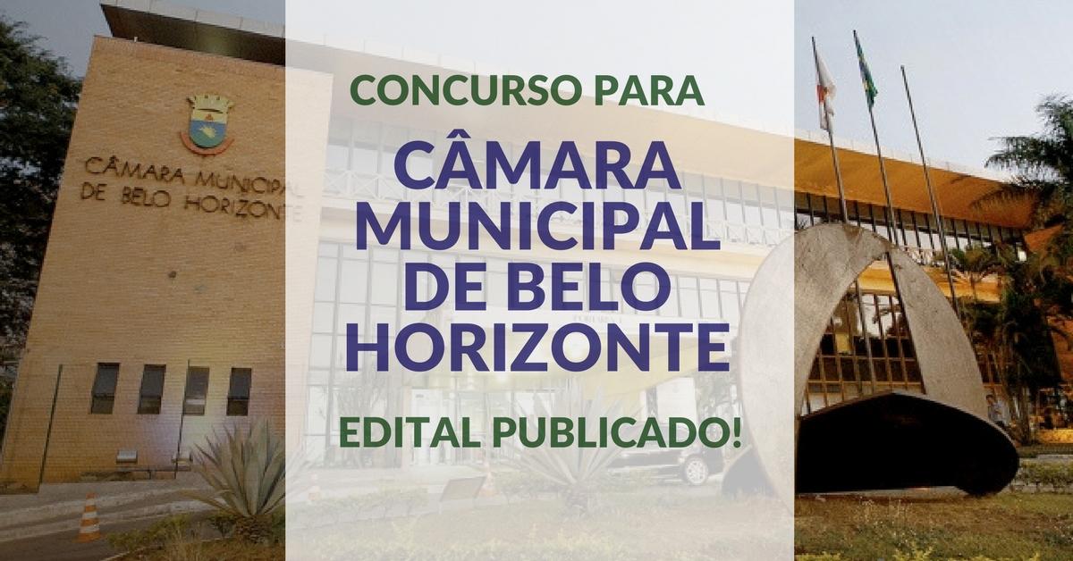 Concurso para Câmara Municipal de Belo Horizonte: edital publicado!