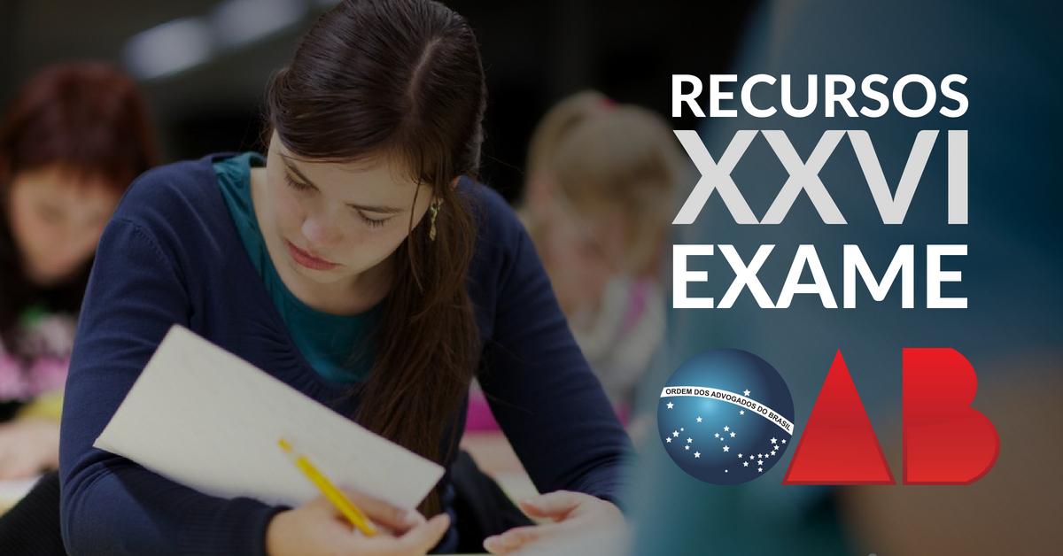 Recursos. XXVI Exame da OAB