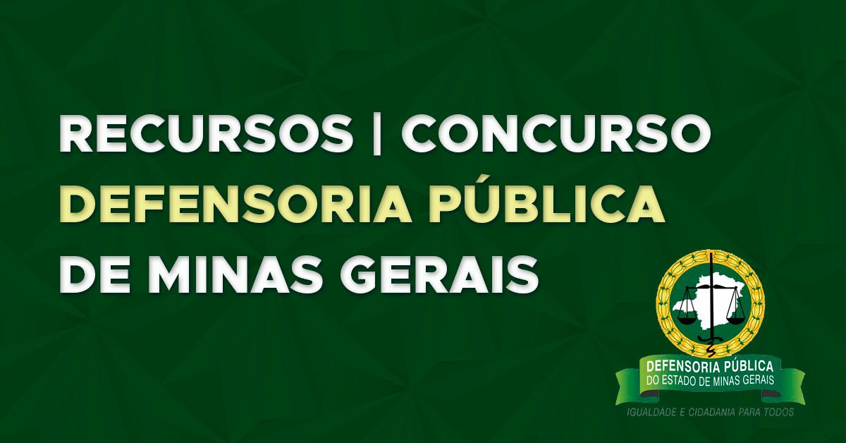 Recursos: Defensoria Pública de Minas Gerais