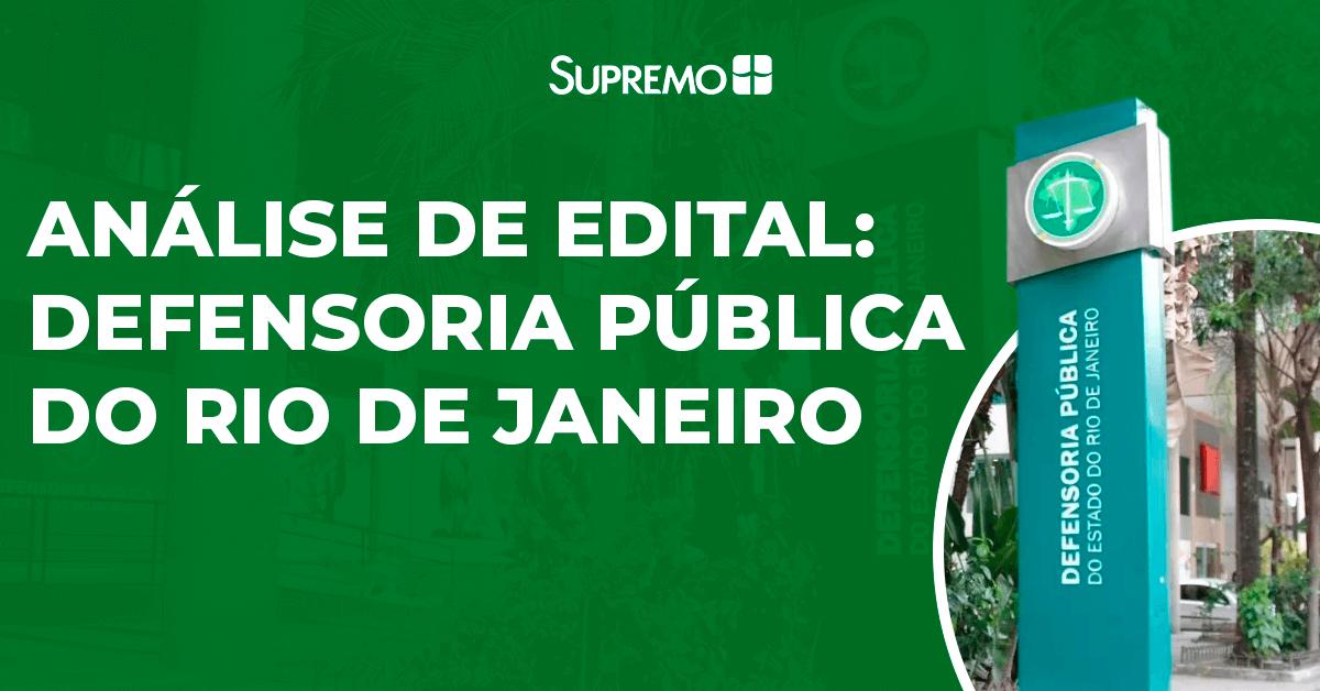 Análise de Edital: Defensoria Pública do Rio de Janeiro