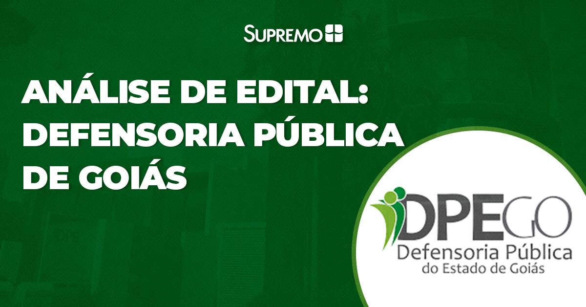 Análise de Edital: Defensoria Pública de Goiás